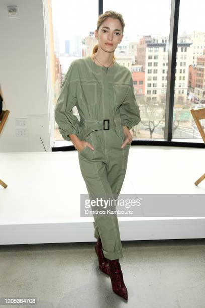 Sofia Sanchez De Betak attends the Jonathan Simkhai front row during New York Fashion Week: The Shows at Gallery I at Spring Studios on February 10,...