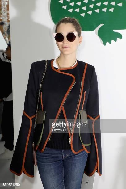 Sofia Sanchez de Betak attends the Lacoste show as part of the Paris Fashion Week Womenswear Spring/Summer 2018 on September 27 2017 in Paris France