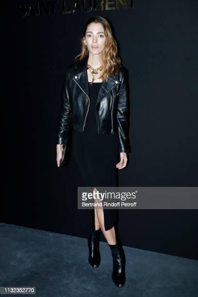 Sofia Sanchez de Betak attends the Saint Laurent show as part of the Paris Fashion Week Womenswear Fall/Winter 2019/2020 on February 26 2019 in Paris...