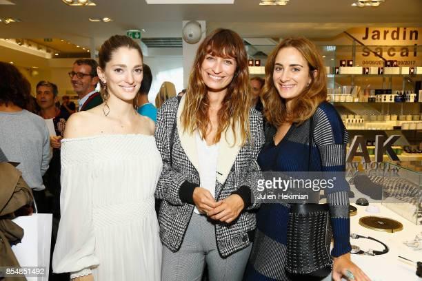 Sofia Sanchez de Betak Caroline de Maigret and Alexia Niedzielski attend the Betak Cocktail at Colette as part of the Paris Fashion Week Womenswear...
