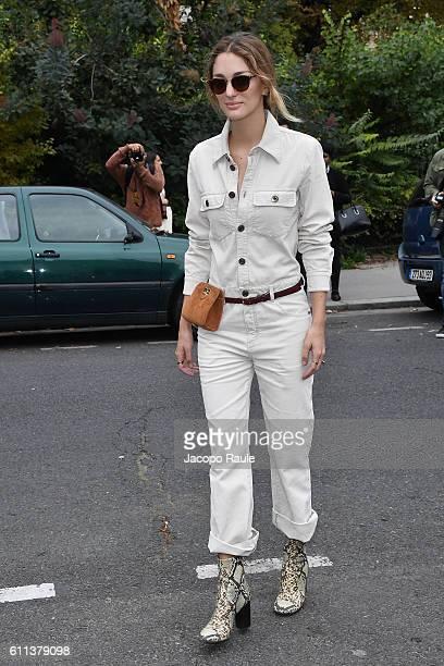 Sofia Sanchez de Betak is seen arriving at Chloe fashion show during the Paris Fashion Week Spring/Summer 2017 on September 29 2016 in Paris France
