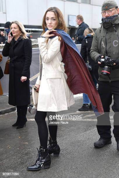 Sofia Sanchez de Betak is seen arriving at Chloe fashion show during Paris Fashion Week Womenswear Fall/Winter 2018/2019 on March 1 2018 in Paris...