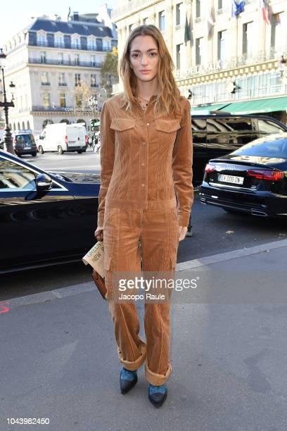 Sofia Sanchez de Betak is seen arriving at Stella McCartne fashion show during Paris Fashion Week Womenswear Spring/Summer 2019 on October 1 2018 in...