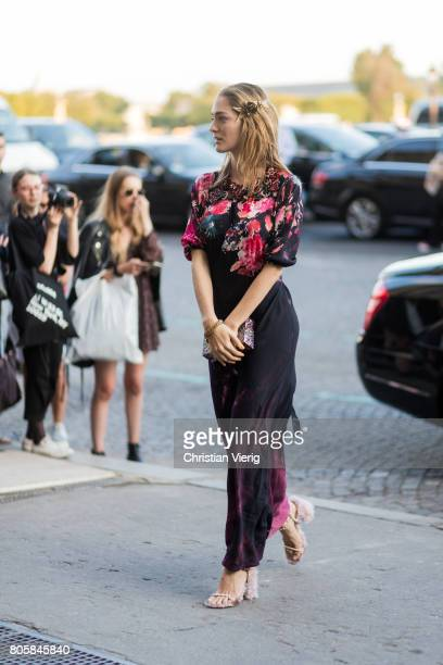 Sofia Sanchez de Betak outside Miu Miu Cruise Collection during Paris Fashion Week Haute Couture Fall/Winter 20172018 Day One on July 2 2017 in Paris...