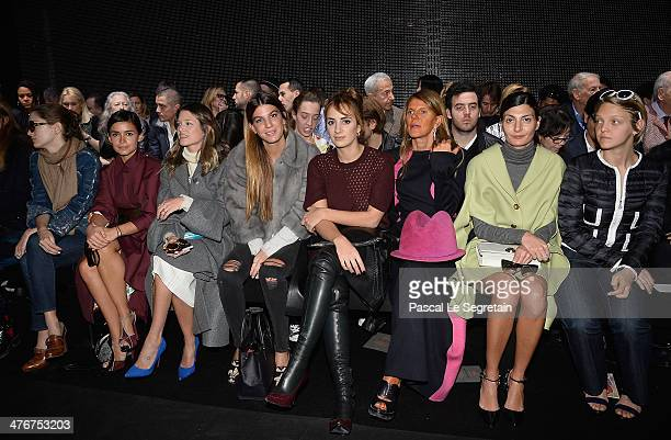 Sofia Sanchez Miroslava Duma Helena Bordon Bianca Brandolini Alexia Niedzielski Anna Dello Russo Giovanna Battaglia and Arianna Fontana attend the...