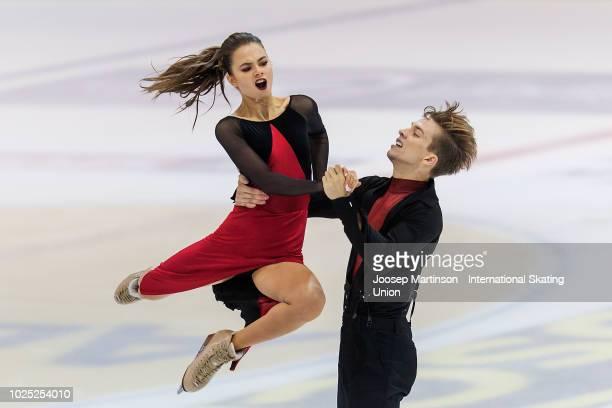 Sofia Shevchenko and Igor Eremenko of Russia compete in the Junior Ice Dance Rhythm Dance during day one of the ISU Junior Grand Prix of Figure...