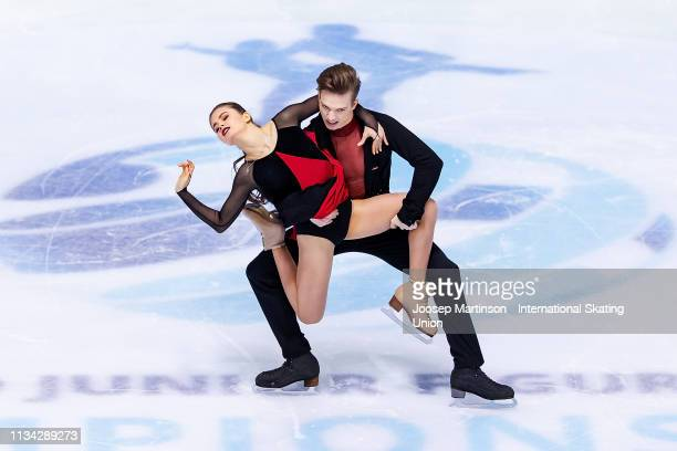 Sofia Shevchenko and Igor Eremenko of Russia compete in the Junior Ice Dance Rhythm Dance during day 2 of the ISU World Junior Figure Skating...