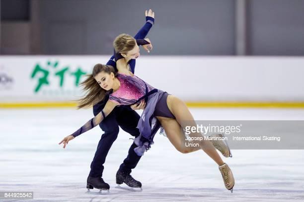 Sofia Shevchenko and Igor Eremenko of Russia compete in the Junior Ice Dance Free Dance during day 3 of the Riga Cup ISU Junior Grand Prix of Figure...
