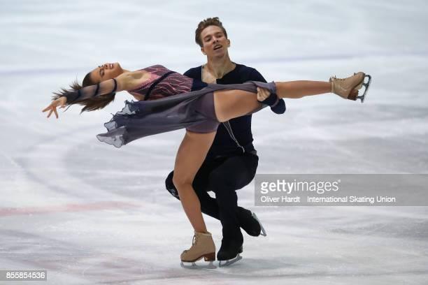 Sofia Shevchenko and Igor Eremenko of Russia performs in the Junior Ice Dance Free Dance Program during day four of the ISU Junior Grand Prix of...