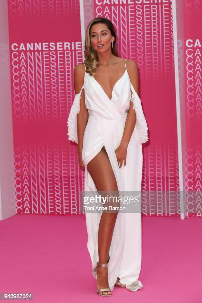 Sofia Sisniega attends 'Aqui En La Tierra' and 'Il Cacciatore' screening during the 1st Cannes International Series Festival at Palais des Festivals...
