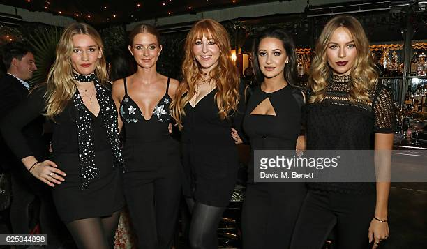 Sofia Tilbury Millie Mackintosh Charlotte Tilbury Roxie Nafousi and Emma Louise Connolly attend the Legendary Dinner Party hosted by Charlotte...