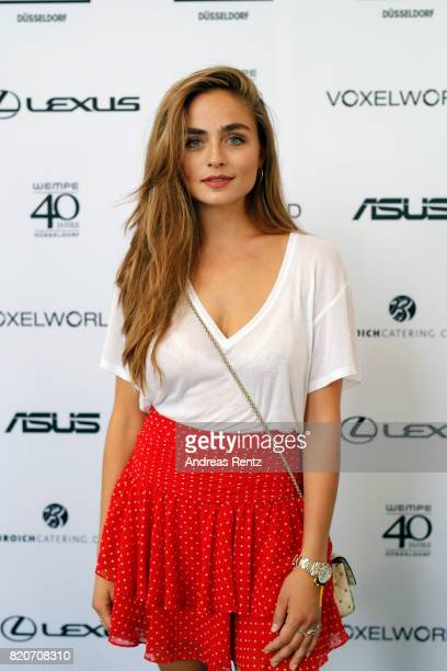 Sofia Tsakiridou attends the 3D Fashion Presented By Lexus/Voxelworld show during Platform Fashion July 2017 at Areal Boehler on July 22, 2017 in...