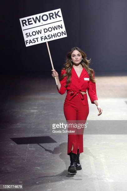 Sofia Tsakiridou during the ABOUT YOU Fashion Week, AYFW, Perwoll show production at Kraftwerk on January 23, 2021 in Berlin, Germany.