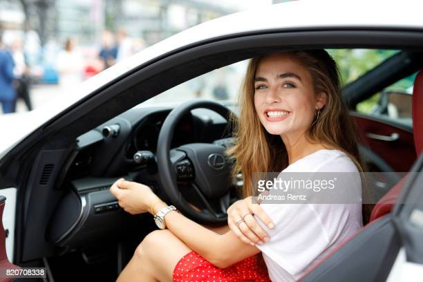 Sofia Tsakiridou poses in a Lexus at the 3D Fashion Presented By Lexus/Voxelworld show during Platform Fashion July 2017 at Areal Boehler on July 22,...