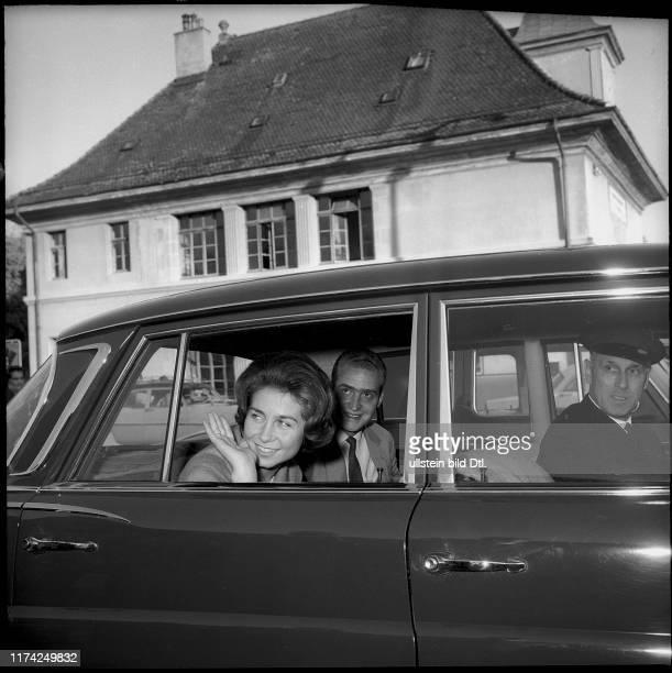 Sofia und Juan Carlos von Spanien in Genf 1962