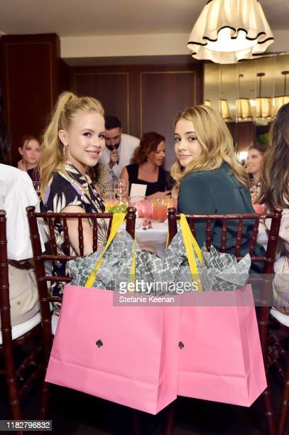 Sofia Vassilieva and Josephine Langford attend InStyle Kate Spade New York Dinner CoHosted By Laura Brown Nicola Glass at Sunset Tower on October 22...