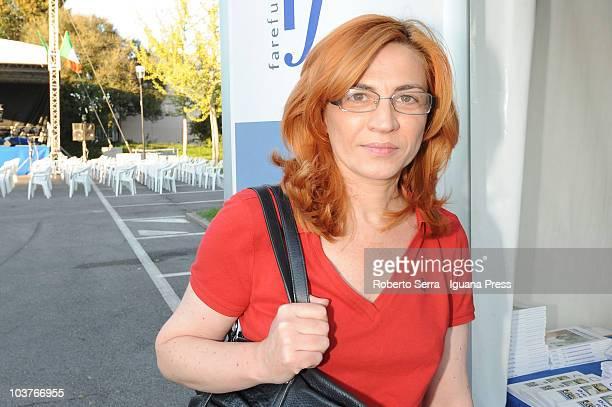 Sofia Ventura attends to the Festa Tricolore on August 31 2010 in Mirabello near Ferrara Italy The Festa Tricolore is organized by the...