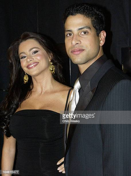 Sofia Vergara and Adam Rodriguez during Johnnie Walker Lounge at the National Hispanic Media Coalition's Image Awards at Regent Beverly Wilshire in...