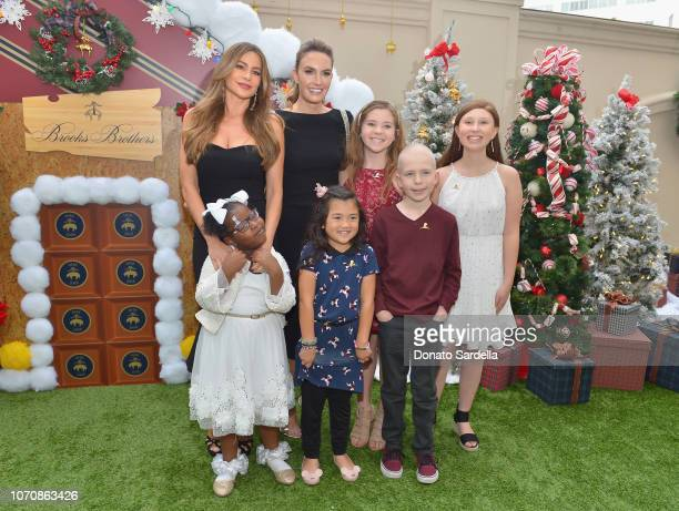 Sofia Vergara and Elizabeth Chambers with St Jude patients Akilah Mia Cole and Kaylee attend the Brooks Brothers and St Jude Children's Research...
