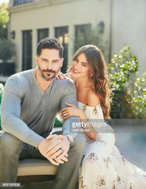 Sofia Vergara and Joe Manganiello are photographed in their home for Hola Magazine on December 8 2016 in Los Angeles California COVER IMAGE