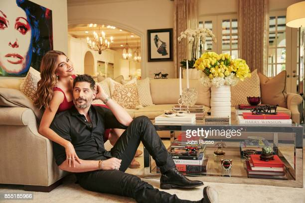 Sofia Vergara and Joe Manganiello are photographed in their home for Hola Magazine on December 8 2016 in Los Angeles California PUBLISHED IMAGE