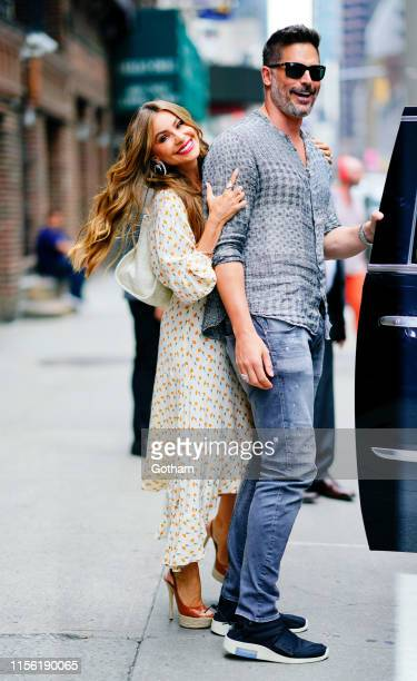 Sofia Vergara and Joe Manganiello are seen at the Stephen Colbert show on July 17 2019 in New York City