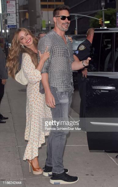 Sofia Vergara and Joe Manganiello are seen on July 17, 2019 in New York City.