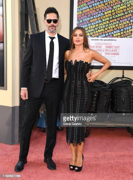 """Sofia Vergara and Joe Manganiello arrives at the Sony Pictures' """"Once Upon A Time...In Hollywood"""" Los Angeles Premiere on July 22, 2019 in Hollywood,..."""