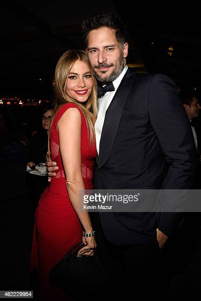 Sofia Vergara and Joe Manganiello attend PEOPLE and the Entertainment Industry Foundation host the 21st Annual Screen Actor's Guild Awards after...