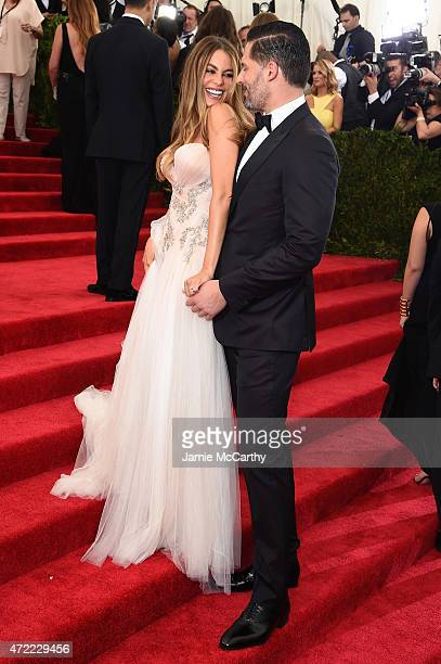 Sofia Vergara and Joe Manganiello attend the China Through The Looking Glass Costume Institute Benefit Gala at the Metropolitan Museum of Art on May...