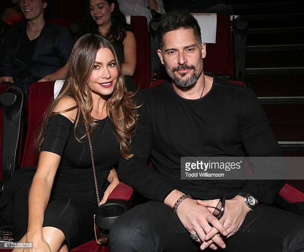 Sofia Vergara and Joe Manganiello attend the Premiere Of Drafthouse Films' 'We Are X' at TCL Chinese Theatre on October 3 2016 in Hollywood California