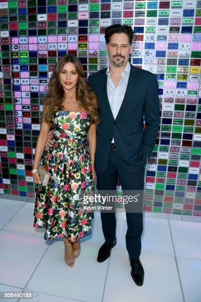 Sofia Vergara and Joe Manganiello attend the Premiere of Warner Bros Pictures' 'Ready Player One' at Dolby Theatre on March 26 2018 in Hollywood...