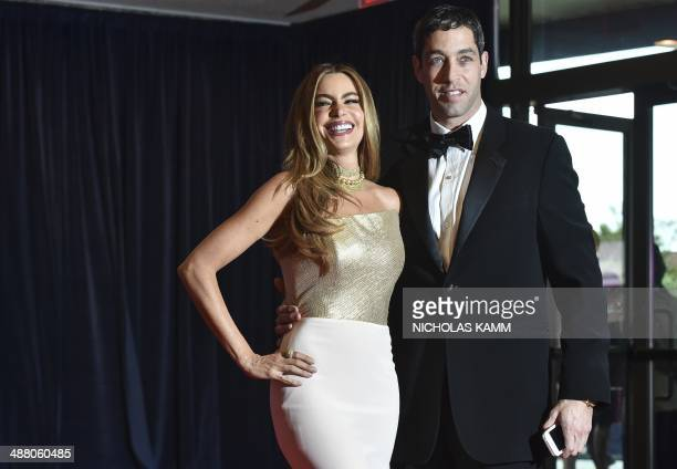 Sofia Vergara and Nick Loeb arrive at the White House Correspondents' Association annual dinner in Washington on May 3 2014 AFP PHOTO/Nicholas KAMM
