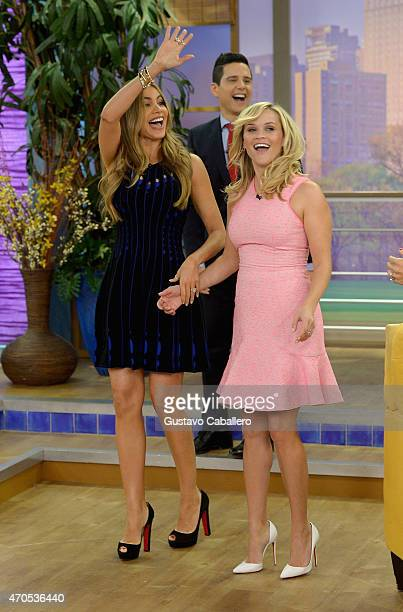 """Sofia Vergara and Reese Witherspoon is on The Set Of """"Despierta America"""" to promote the film """"Hot Pursuit"""" at Univision Studios on April 21, 2015 in..."""