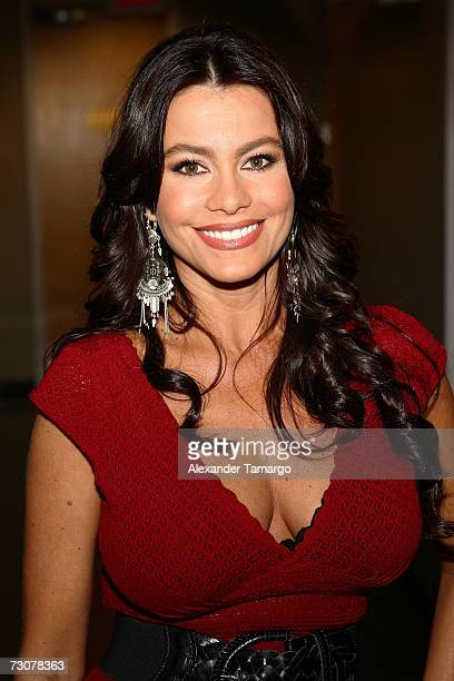 Sofia Vergara appears backstage on the new set of Escandalo TV for their 5th Anniversay episode on January 22 2007 in Miami Florida