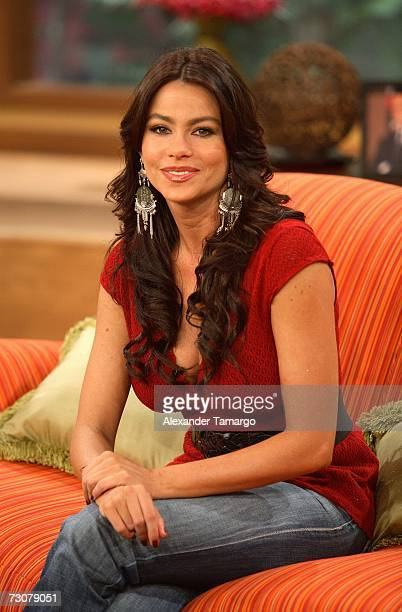 Sofia Vergara appears on the new set of Escandalo TV for their 5th Anniversay episode on January 22 2007 in Miami Florida