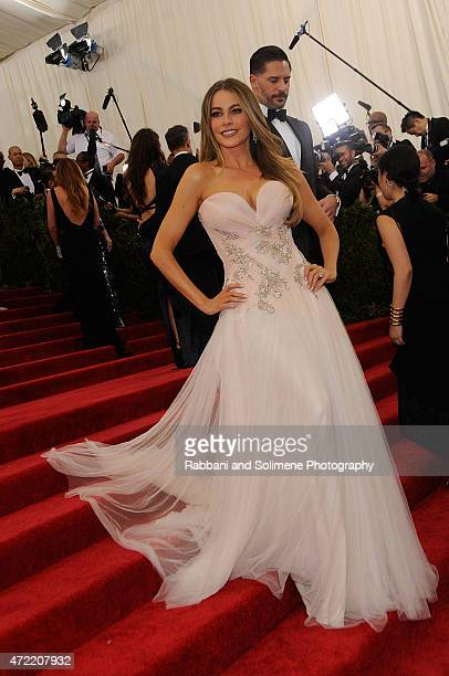 Sofia Vergara arrives at 'China Through The Looking Glass' Costume Institute Benefit Gala at the Metropolitan Museum of Art on May 4 2015 in New York...