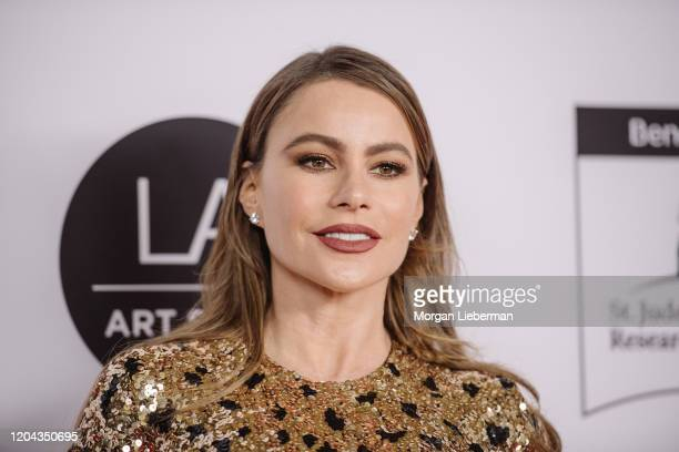 Sofia Vergara arrives at the 2020 LA Art Show Opening Night at Los Angeles Convention Center on February 05 2020 in Los Angeles California