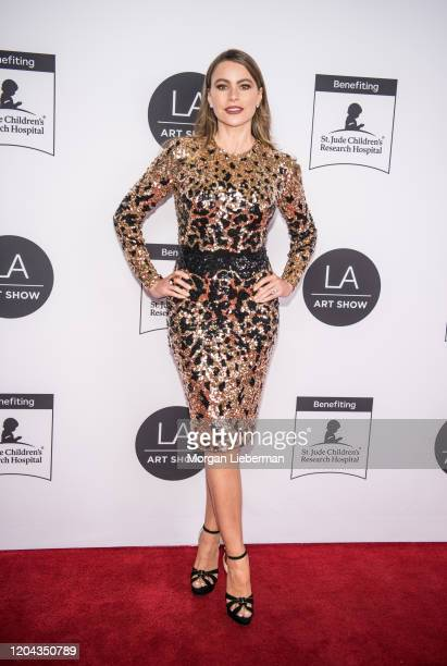 Sofia Vergara arrives at the 2020 LA Art Show Opening Night at Los Angeles Convention Center on February 05, 2020 in Los Angeles, California.