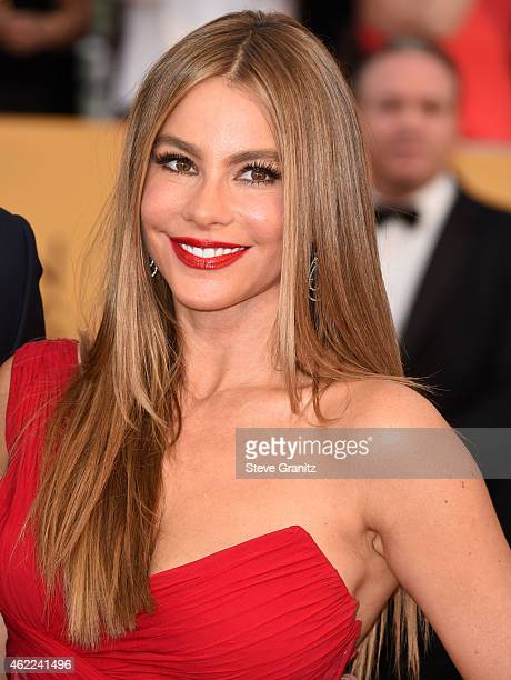 Sofia Vergara arrives at the 21st Annual Screen Actors Guild Awards at The Shrine Auditorium on January 25 2015 in Los Angeles California