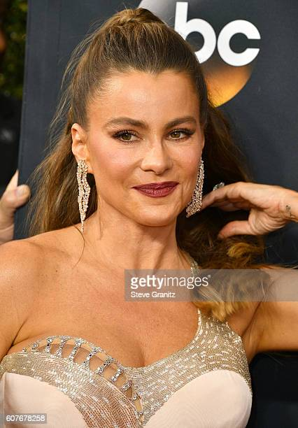 Sofia Vergara arrives at the 68th Annual Primetime Emmy Awards at Microsoft Theater on September 18 2016 in Los Angeles California