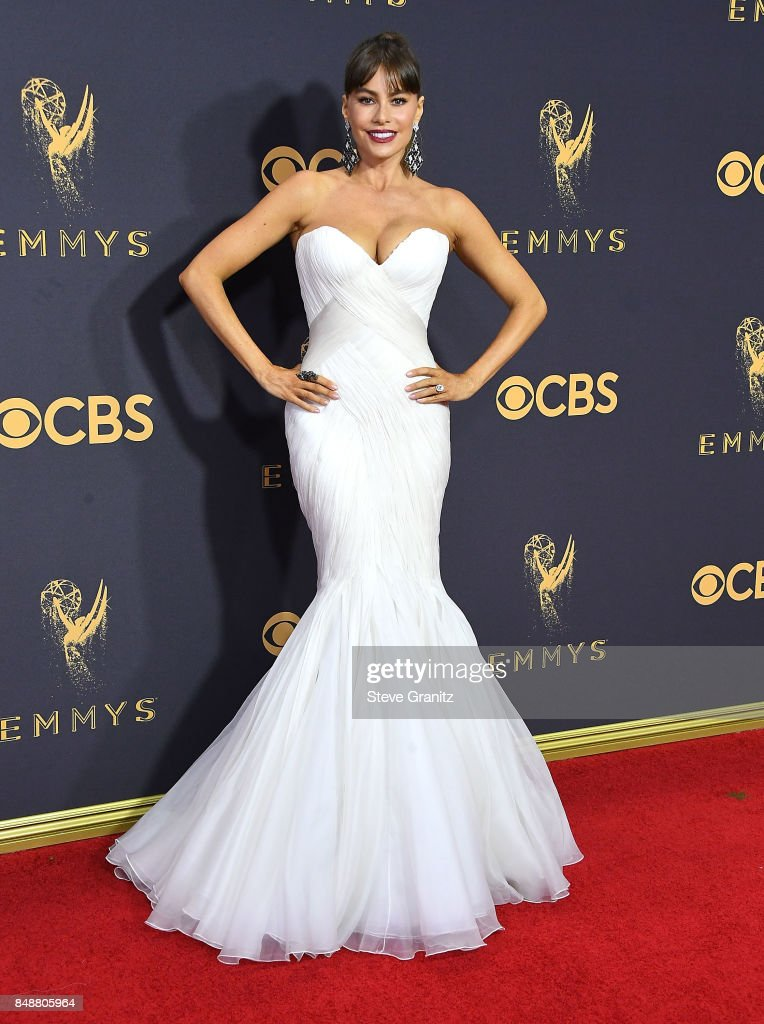Sofia Vergara arrives at the 69th Annual Primetime Emmy Awards at Microsoft Theater on September 17, 2017 in Los Angeles, California.