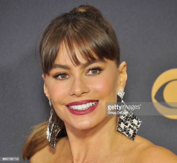 Sofia Vergara arrives at the 69th Annual Primetime Emmy Awards at Microsoft Theater on September 17 2017 in Los Angeles California