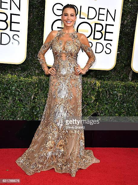 Sofia Vergara arrives at the 74th Annual Golden Globe Awards at The Beverly Hilton Hotel on January 8 2017 in Beverly Hills California