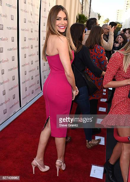 Sofia Vergara arrives at the ABC's Modern Family ATAS Emmy Event at Fox Studios on May 2 2016 in Los Angeles California