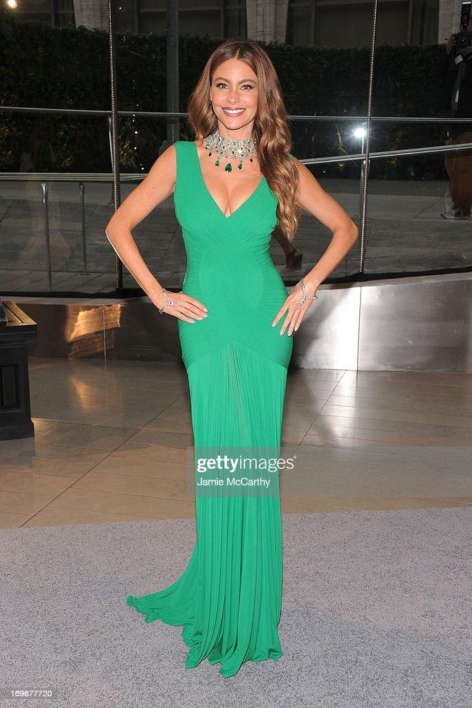 Sofia Vergara attends 2013 CFDA FASHION AWARDS Underwritten By Swarovski - Red Carpet Arrivals at Lincoln Center on June 3, 2013 in New York City.