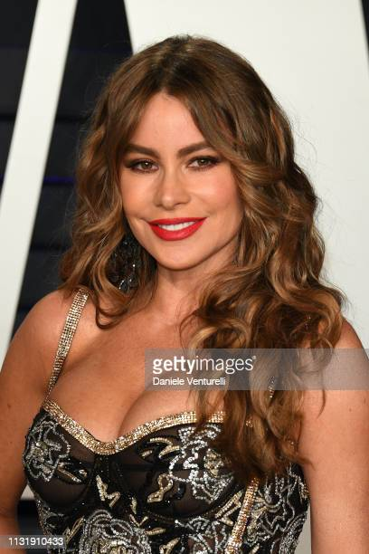 Sofia Vergara attends 2019 Vanity Fair Oscar Party Hosted By Radhika Jones at Wallis Annenberg Center for the Performing Arts on February 24 2019 in...