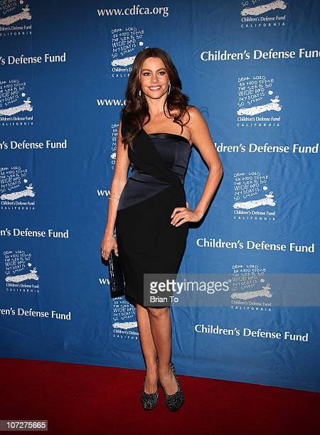 Sofia Vergara attends Children's Defense Fund California's 20th annual Beat the Odds Awards at Beverly Hills Hotel on December 2 2010 in Beverly...