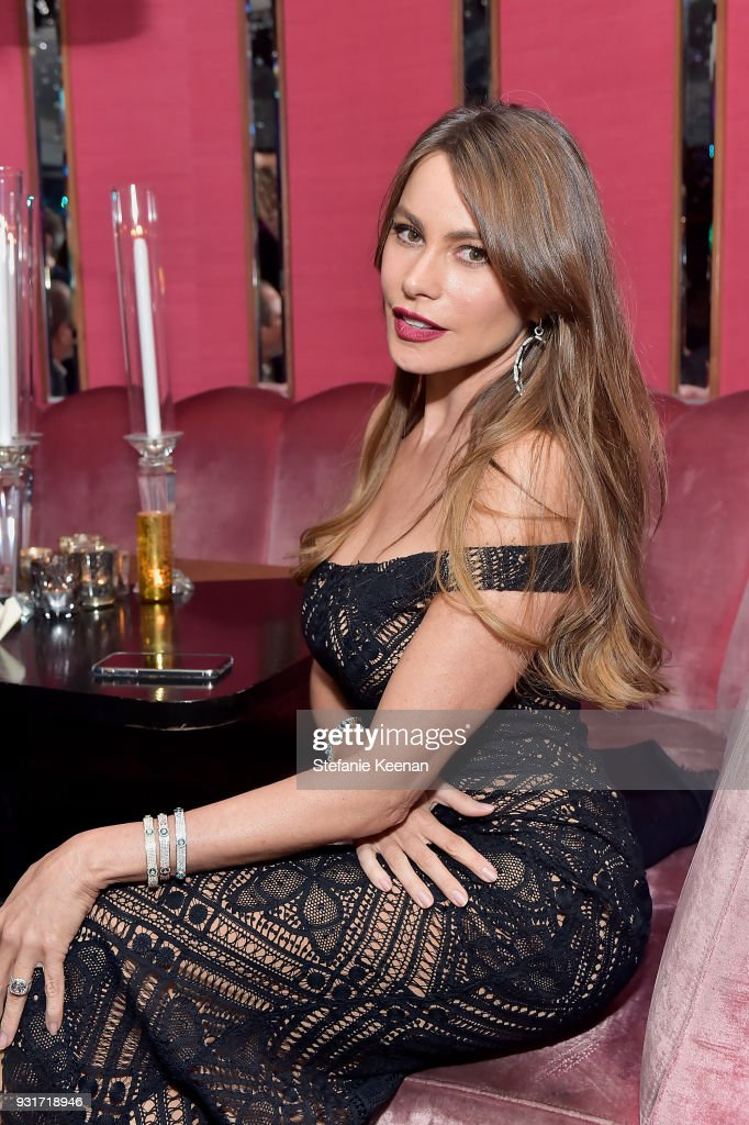 Sofia Vergara attends Lorraine Schwartz launches The Eye Bangle a new addition to her signature Against Evil Eye Collection at Delilah on March 13, 2018 in West Hollywood, California.