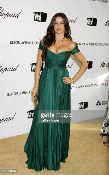 Sofia Vergara attends the 16th Annual Elton John AIDS Foundation Oscar Party at the Pacific Design Center on February 24 2008 in West Hollywood...